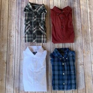 Bundle of 4 Button Down Long Sleeves